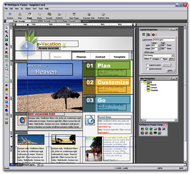 Netobjects Fusion Essentials Free Website Design Software